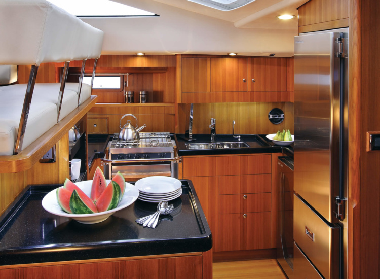 57ft Sailing Yacht Galley Refrigeration Systems