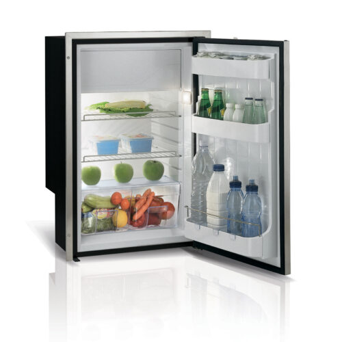 -04Vitrifrigo AIRLOCK fridge with compressor mounted at base available in black or silver grey with positive latch & vent position