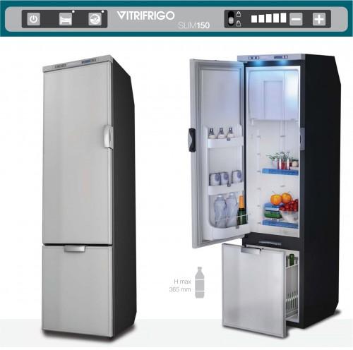 SLIM150 144 Litre 12/24 volt marine fridge freezer