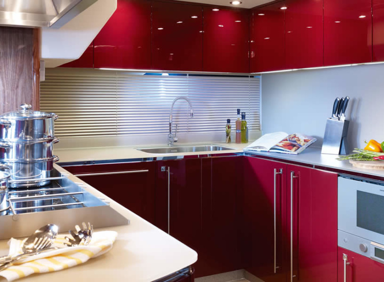 40m Motor Yacht Galley Refrigeration