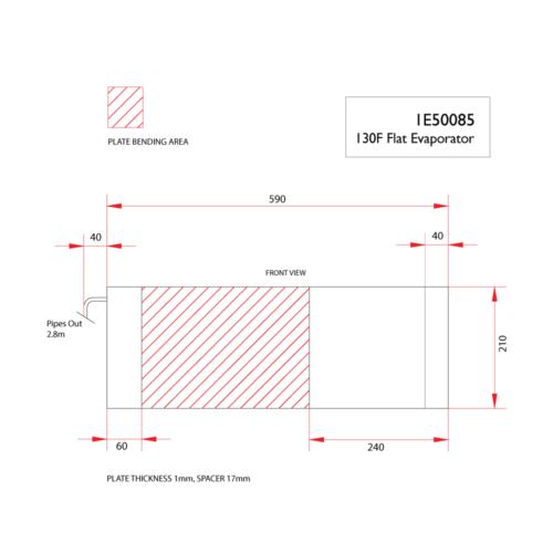 130F flat evaporator -DIMS