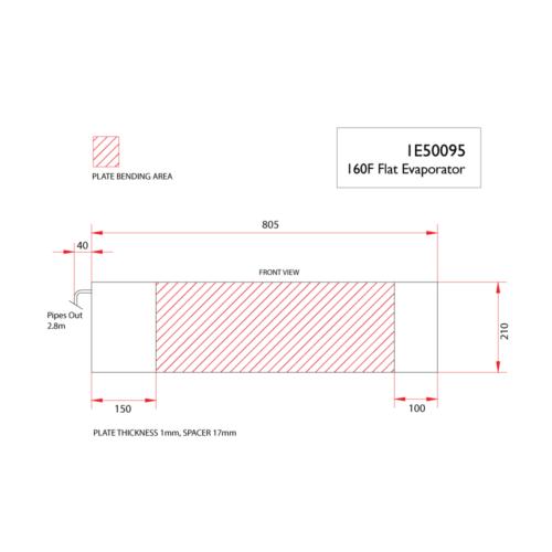 160F flat evaporator-DIMS