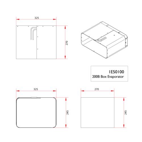 200B box evaporator dimensions