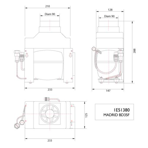 Madrid BD35F 12/24V Compressor-DIMS