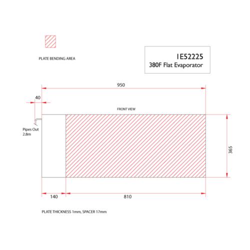 380f flat evaporator-DIMS