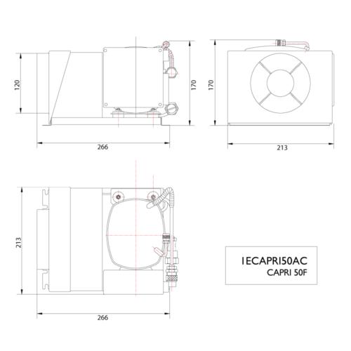 CAPRI 50F AC  12/24V Compressor -DIMS