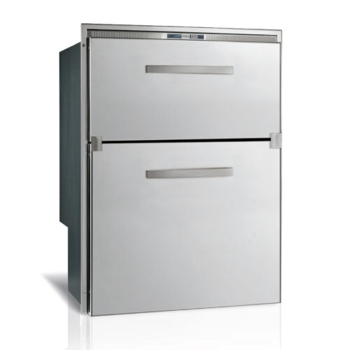 144 Litre 2 drawer 12/24 volt marine fridge or freezer with integral compressor