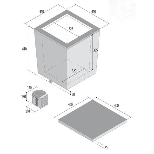 37 Litre top opening 12/24 volt marine fridge-DIMS