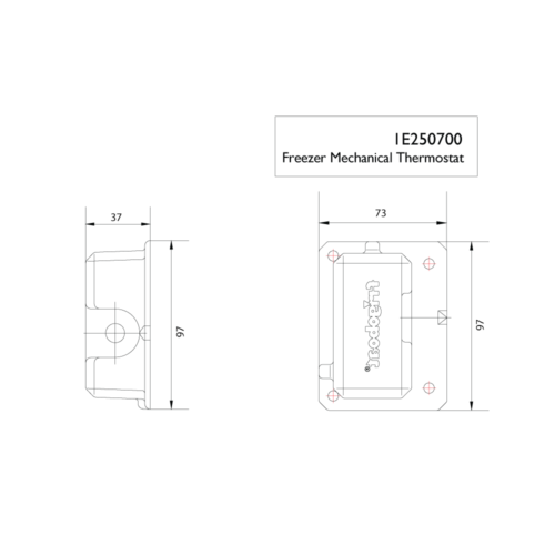 freezer mechanical thermostat -DIMS