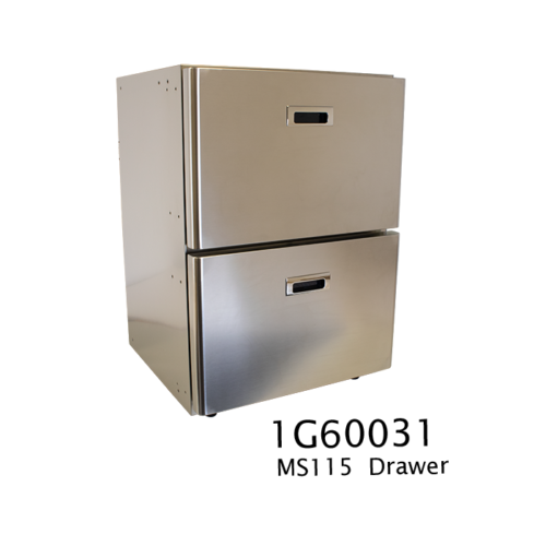 MS115 - 115 Litre stainless marine drawer fridge