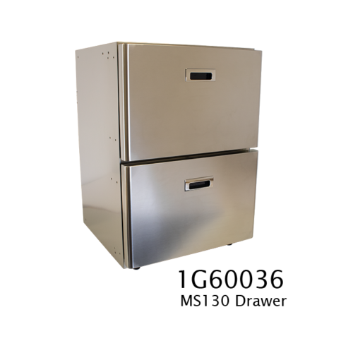 MS130 - 130 Litre stainless marine drawer fridge