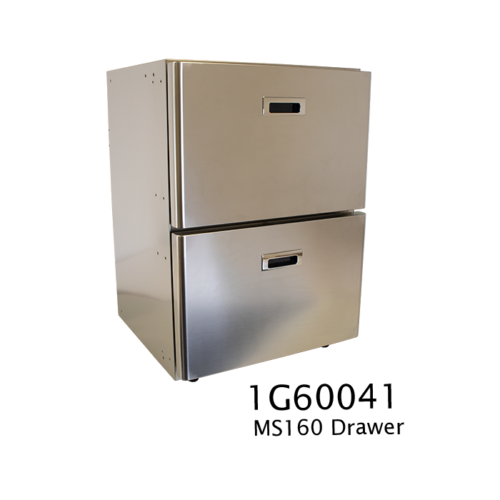 MS160 - 160 Litre stainless marine drawer fridge