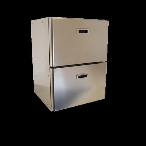 MS90 - 90 Litre stainless marine drawer freezer