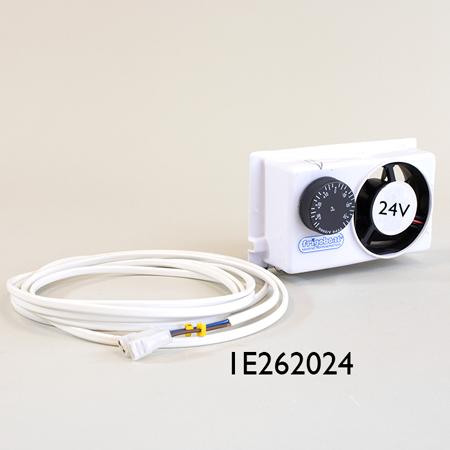 24 volt transfer fan with thermostat for spillover fridge freezer