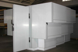 Marine super yacht cold room custom shape