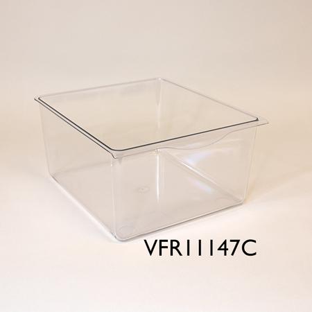 Perspex bin for ice maker