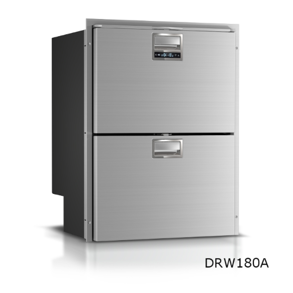 DW180 - 150 Litre frost free double drawer marine combination fridge freezer