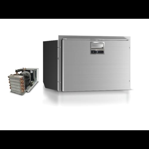 Stainless steel 80 litre frost free single drawer fridge