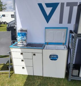 Evo Design kitchen witrifrogo 12 volt top opening fridge